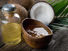 kokosovo ulje z asjajnu kosu